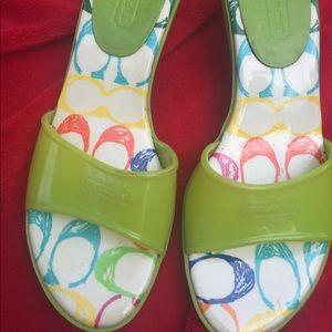 Coach summer kitten heels